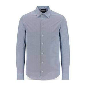 Armani Emporio Armani Long Sleeve Ace Shirt  - Male - Solid Medium - Size: Medium