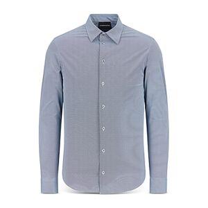 Armani Emporio Armani Long Sleeve Ace Shirt  - Male - Solid Medium - Size: Extra Large