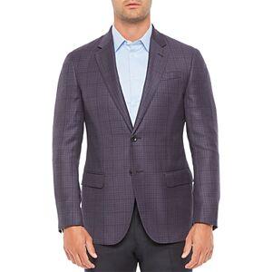 Armani Emporio Armani Regular Fit Wool Dark Solid Jacket  - Male - Solid Dark - Size: 58 IT / 48 US