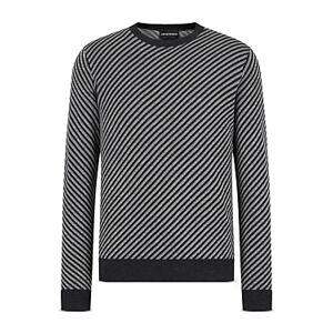 Armani Emporio Armani Diagonally Striped Sweater  - Male - Multi - Size: Extra Large