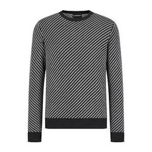 Armani Emporio Armani Diagonally Striped Sweater  - Male - Multi - Size: 2X-Large