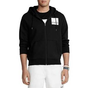 Ralph Lauren Polo Ralph Lauren Logo Double Knit Hoodie  - Male - Black - Size: Large