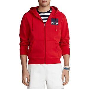 Ralph Lauren Polo Ralph Lauren Logo Double Knit Hoodie  - Male - Red - Size: Large