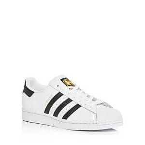 Adidas Men's Superstar Low Top Sneakers  - Male - White - Size: 8.5