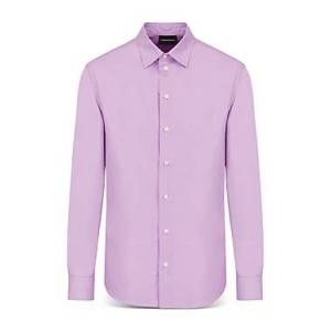 Armani Emporio Armani Long Sleeve Collin Shirt  - Male - Solid Light - Size: 2X-Large