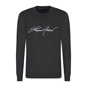 Armani Emporio Armani Embroidered Logo Sweater  - Male - Solid Dark - Size: Medium