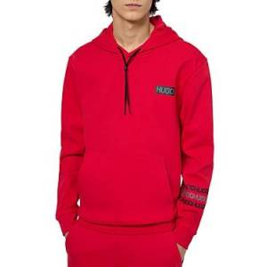 Hugo Boss Dozzi Logo Hooded Sweatshirt  - Open Pink - Size: Extra Large