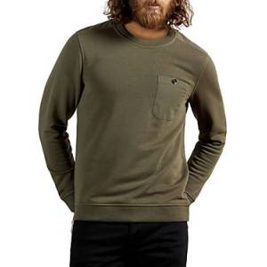 Ted Baker Cotton Blend Pocket Sweatshirt  - Male - Khaki - Size: Extra Small