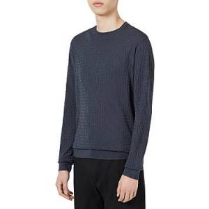 Armani Emporio Armani Wool Pullover Sweater  - Male - Solid Medium - Size: Extra Large