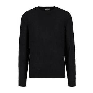 Armani Emporio Armani Pullover Wool Sweater  - Male - Solid Medium - Size: 3X-Large