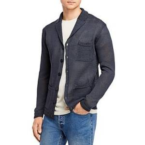 Inis Meain Linen Knit Regular Fit Pub Jacket  - Male - Charcoal - Size: Extra Large