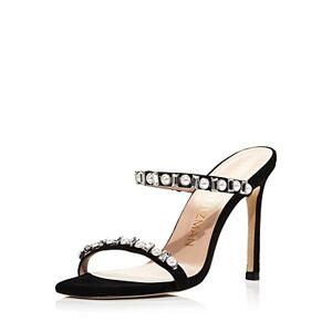Stuart Weitzman Women's Aleena Embellished High-Heel Sandals  - Female - Black - Size: 7