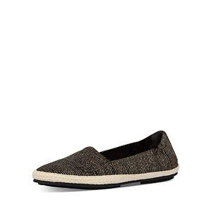 FitFlop Women's Siren Glitter Stripe Espadrille Loafers  - Female - All Black - Size: 9