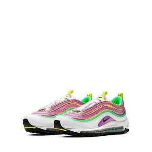 Nike Women's Air Max 97 Low-Top Sneakers  - Female - White/fsgl - Size: 8.5