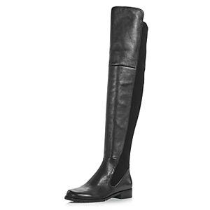 Stuart Weitzman Women's Langdon Over-the-Knee Boots  - Female - Black Leather - Size: 8.5