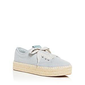 Tretorn Women's Eve Low-Top Platform Espadrille Sneakers  - Female - Light Denim - Size: 8