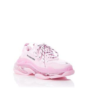 Balenciaga Women's Triple S Clear Sole Chunky Sneakers  - Female - Light Pink/Pink Neon - Size: 8 US / 38 EU