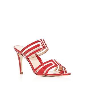 Marion Parke Women's Larkin High-Heel Slide Sandals  - Female - Red - Size: 9.5 US / 40 IT