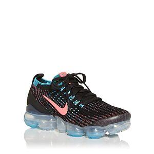 Nike Women's Air Vapormax Flyknit 3 Low Top Sneakers  - Female - Black/Neon Pink - Size: 8
