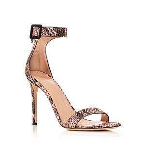 Giuseppe Zanotti Women's Snake Print High-Heel Sandals  - Female - Euphoria - Size: 6