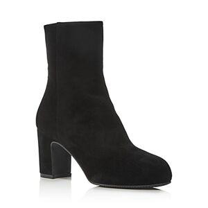 Stuart Weitzman Women's Gianella Block Heel Booties  - Female - Black - Size: 4.5