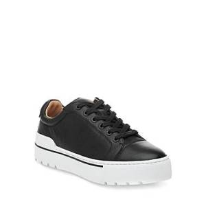 J/Slides Women's Eve Lace Up Sneakers  - Female - Black - Size: 6.5