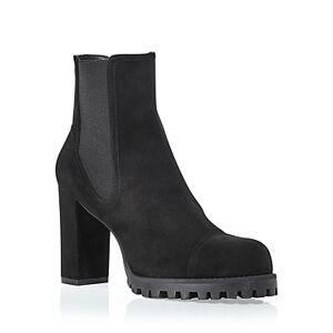 Stuart Weitzman Women's Wenda Pull On Booties  - Female - Black - Size: 9