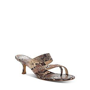 Vince Camuto Women's Moentha Snake-Embossed High-Heel Sandals  - Female - Light Pink - Size: 7.5