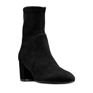 Stuart Weitzman Women's Yuliana 80 High Heel Booties  - Female - Black - Size: 9.5