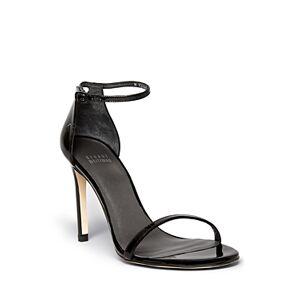 Stuart Weitzman Women's Nudistsong High-Heel Sandals  - Female - Black Patent Leather - Size: 9