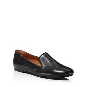 Gentle Souls By Kenneth Cole Gentle Souls Women's Eugene Leather Smoking Slipper Flats  - Female - Black - Size: 9