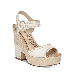 Sam Edelman Women's Lillie Espadrille Wedge Platform Sandals  - Female - Ivory - Size: 9.5