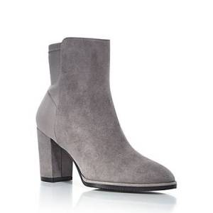 Stuart Weitzman Women's Harper High Heel Booties  - Female - Flannel - Size: 7