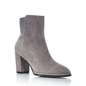 Stuart Weitzman Women's Harper High Heel Booties  - Female - Flannel - Size: 8.5