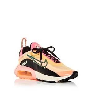 Nike Women's Air Max 2090 Low Top Sneakers  - Female - Orange/Pink - Size: 9