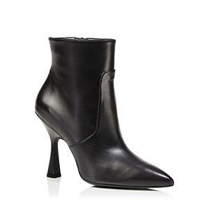 Stuart Weitzman Women's Melena 100 Pointed Booties  - Female - Black - Size: 8.5