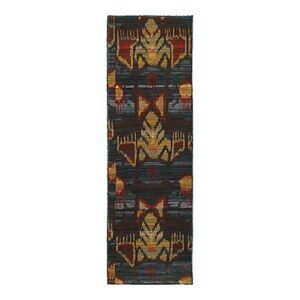 Oriental Weavers Sedona 4378H Runner Rug, 2'3 x 7'6  - Unisex - Charcoal/Blue