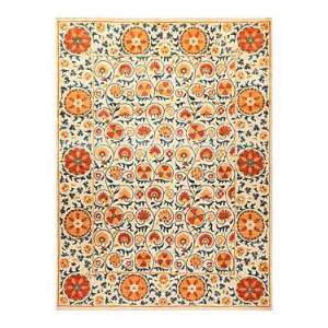 Bloomingdale's Suzani M1676 Area Rug, 9'1 x 12'2  - Ivory