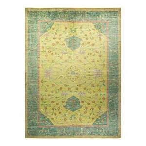 Bloomingdale's Oushak M1771 Area Rug, 10'2 x 13'9  - Lime