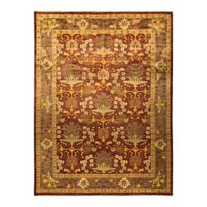 Bloomingdale's Arts & Crafts M1573 Area Rug, 10'1 x 13'2  - Red