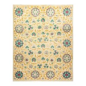 Bloomingdale's Suzani M1625 Area Rug, 8'2 x 10'1  - Ivory