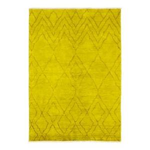 Bloomingdale's Vibrance Paleolithic Hand-Knotted Area Rug, 6' 4 x 9' 0  - Female - Yellow
