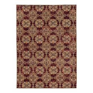 Oriental Weavers Andorra 6883 Area Rug, 1'10 x 3'2  - Unisex - Red/Gold