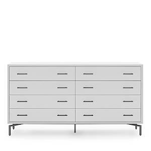 Mitchell Gold Bob Williams Ming 8-Drawer Chest  - White/Pewter