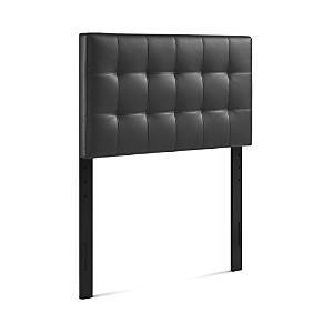Modway Lily Upholstered Vinyl Headboard, Twin  - Black