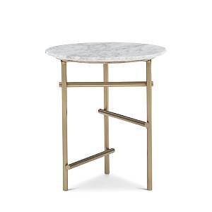 Caracole Concentric Accent Table  - Marble/Bronze