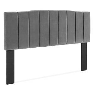 Modway Camilla Channel Tufted Performance Velvet Headboard, Twin  - Charcoal