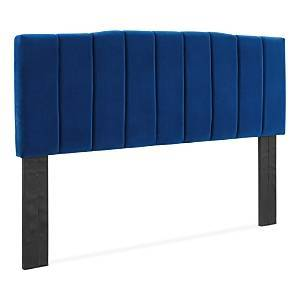Modway Camilla Channel Tufted Performance Velvet Headboard, Twin  - Navy
