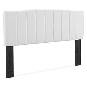 Modway Camilla Channel Tufted Performance Velvet Headboard, Twin  - White