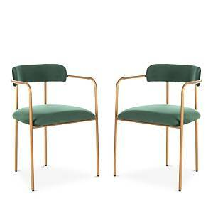 Safavieh Camille Side Chair, Set of Two  - Green/Gold